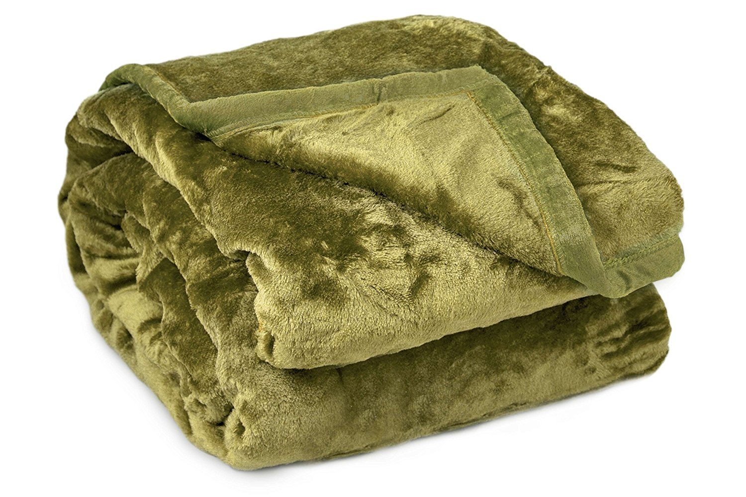 Archangel 2 Ply Queen Solid Mink Blanket - Sage
