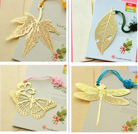 Ywbeyond Wholesale lovely bronze bookmark door gifts for birthday party return goods, 6 model for choose