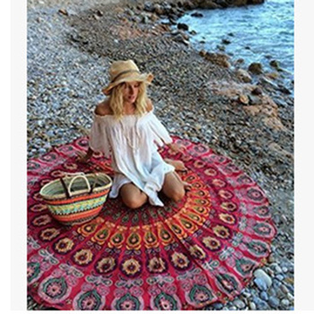 Wholesale 150cm Mandala Round Tapestry Wall Hanging Bohemian Women Beach  Towel Indian Yoga Mat indian fabric ce121fb9c7