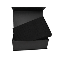 Luxury art paper Custom Black Rigid Magnetic Closure clothes and Exquisite sculpture Gift Box Wholesale with foam insert