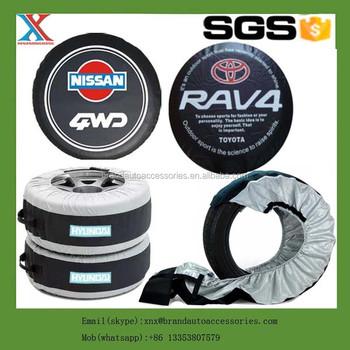 Car van suv mvp custom fit spare tire cover wheel storage for Housse pour roue de secours