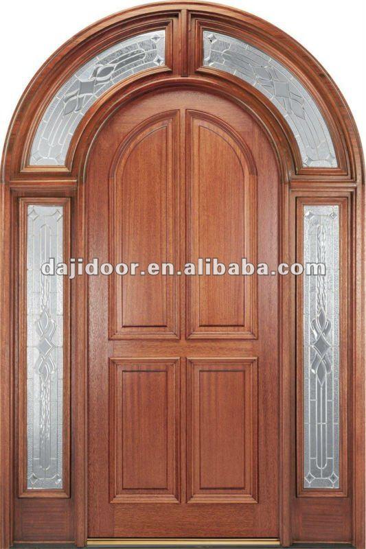 Exterior Último Diseño Puertas De Madera Tapa Redonda Dj-s6002m-5 ...