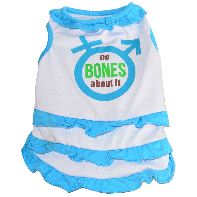 "671836e0b 12"" plain blue china pet products dog dress pet products soft pet  clothes summer"