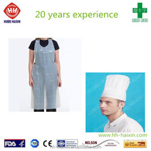 disposable PE apron and paper chef hat