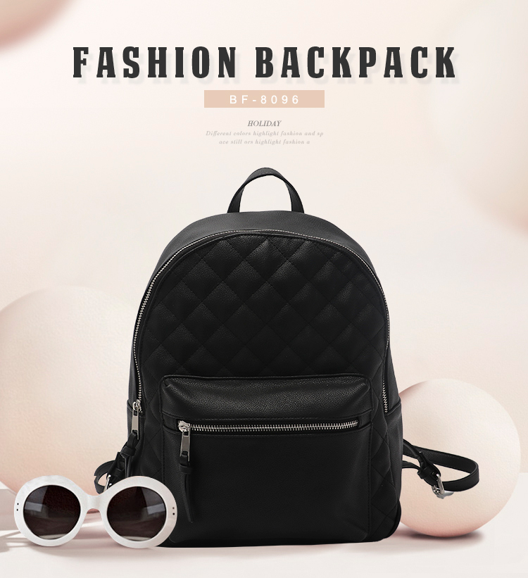 fda53317da EPASIKA teenage girls female school bag black leisure laptop bagpack  fashion pu leather mini backpack for women with custom logo.
