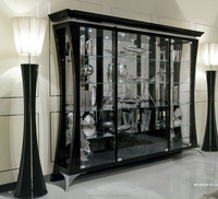BL11311A-Neo classical showcase with four doors luxury european style wine glass display cabinet