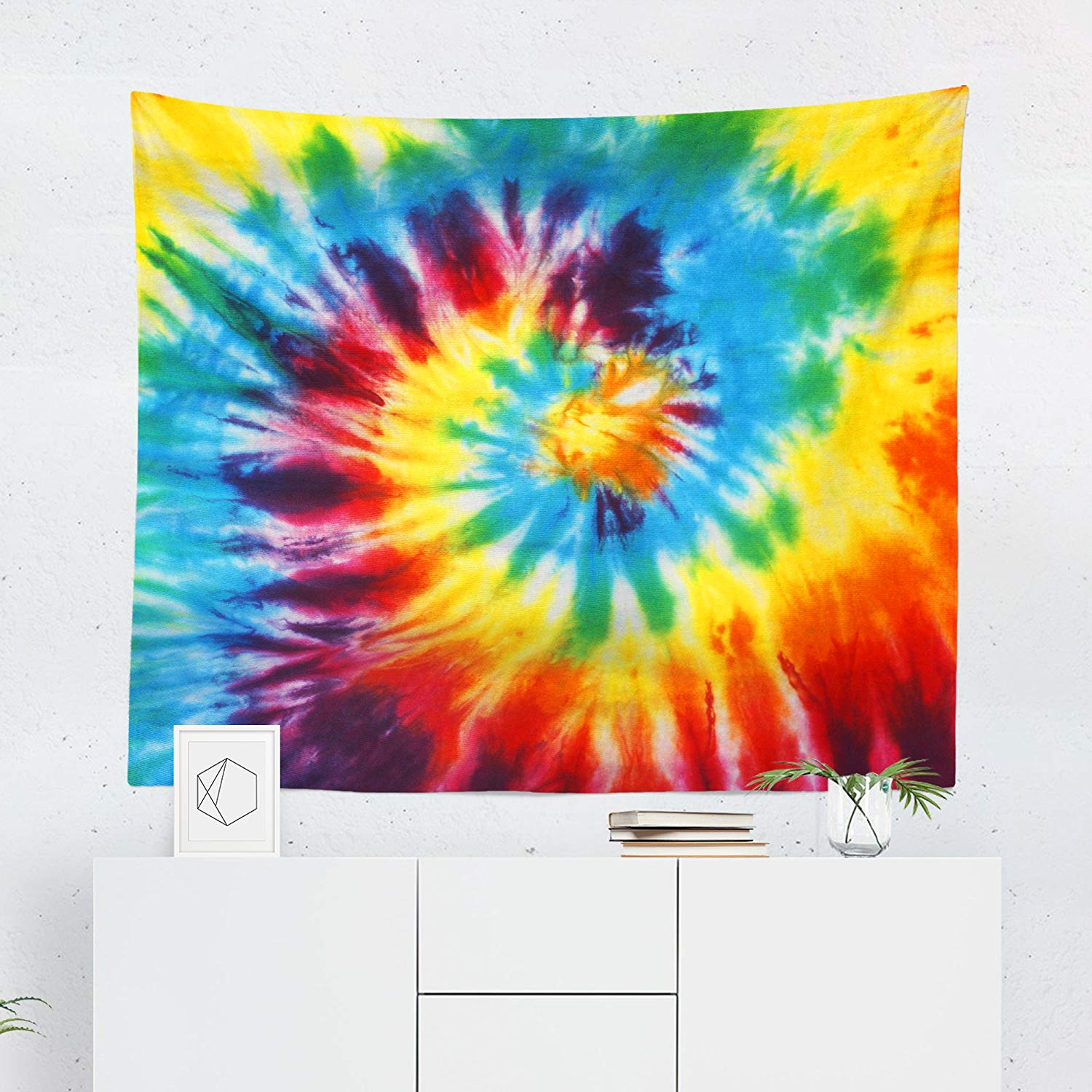 Buy Tie Dye Hippie Tapestry Spiral Abstract Colorful Wall Tapestries Hanging Decor Bedroom Dorm College Living Room Home Art Print Decoration Decorative Printed In The Usa Small Medium Large