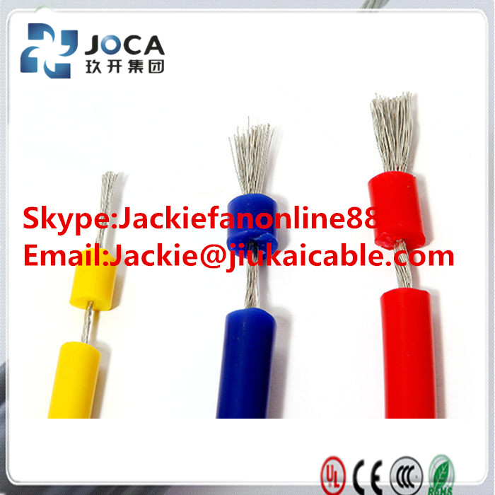 18awg stranded copper conductor silicone rubber wire used for various electric machineries