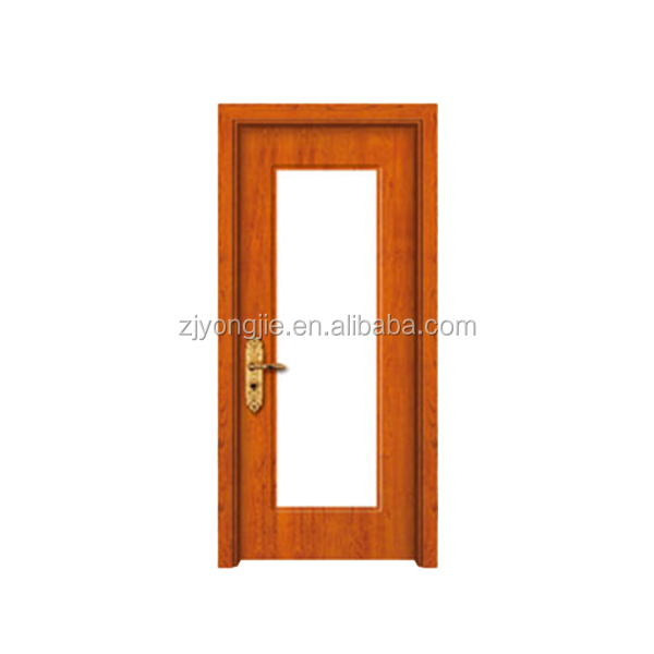China zhejiang manufacture MDF+Finger joint fir wood+PVC solid wood single door design