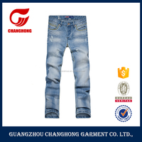 New Design Light Blue Branded Jeans Rmbroider Pants For Men Pictures Of Jeans Pants China Jeans In Vintage Wash