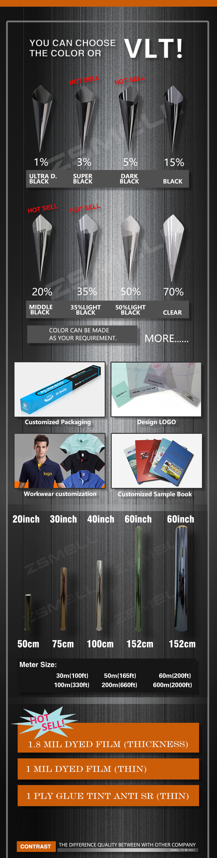 Car Window Solar Tinting Roll Tint Auto Packing Glass Protective Display Anti Glare 3m Tool Cover Deep Dyed Film