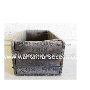 antique furniture wooden small arms ammuntion box,farmhouse decor wood storage, kitchen living room,wholesale