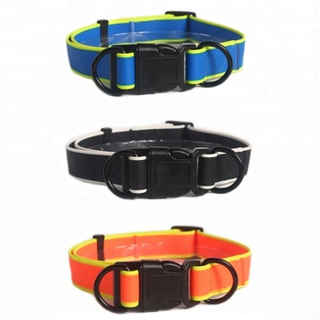 OEM Factory Amazon Pet Puppy Dog Collar, Luxury Rubber Dog Collar PVC Plastic Buckle