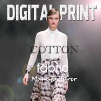 Custom design high quality digital print on textile fabric -M