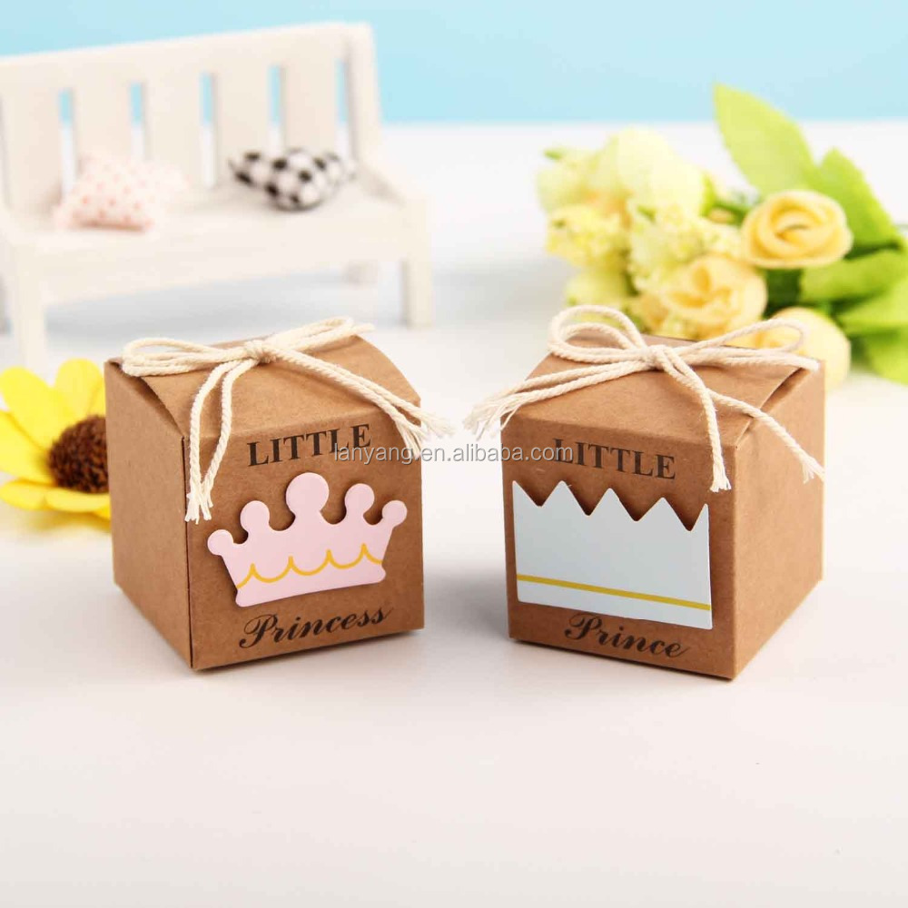Hot Sale Little Princess Kraft Box Gift Box For Baby Shower View Kraft Box Lanyang Product Details From Yiwu Lanyang Package Printing Co Ltd On