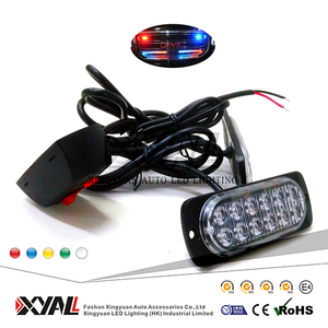 72W Super Bright Emergency Warning Safety Traffic Motorcycle used LED Grille Strobe Flashing Thin Light Head Kit