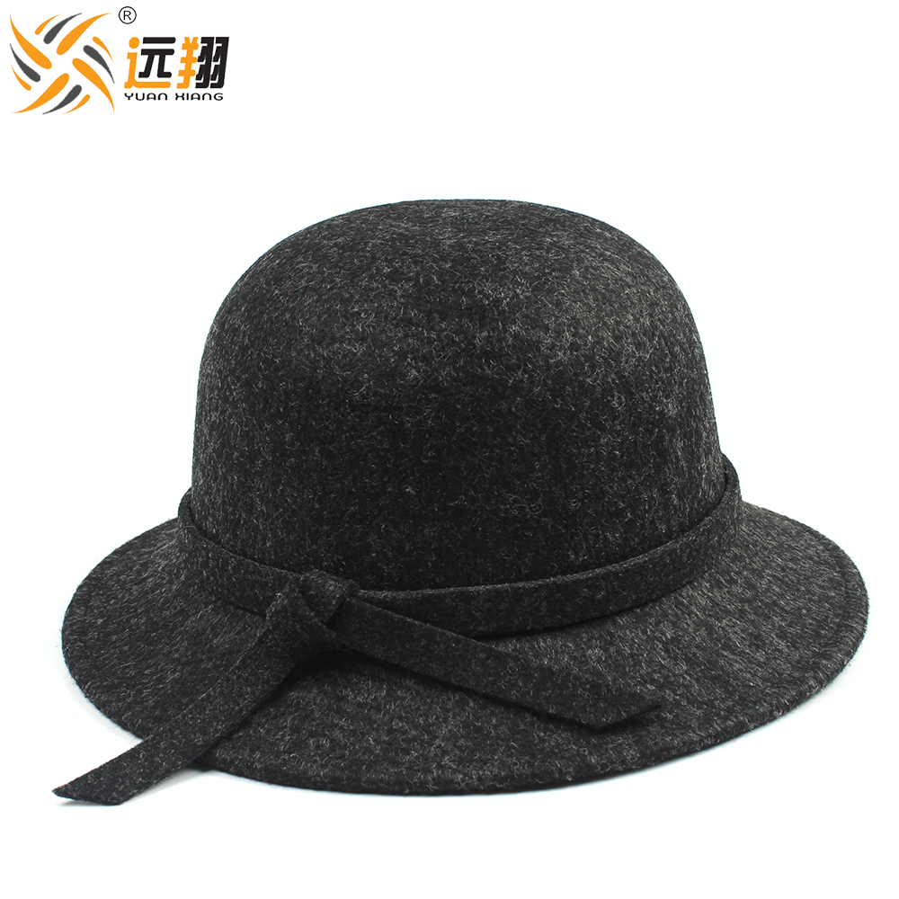 High quality wool felt for women fashion felt hat