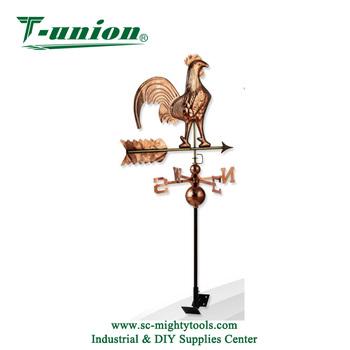 Decorative Rooster Garden Stake Metal Wind Vane Beautiful Weather Vane