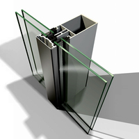 High Quality Ghana Style Invisible Frame Aluminum Glass Curtain Wall