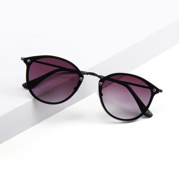 Cermin Kacamata Logam Bulat Hitam Kacamata Hitam Wanita - Buy ... 0dc664fe8e