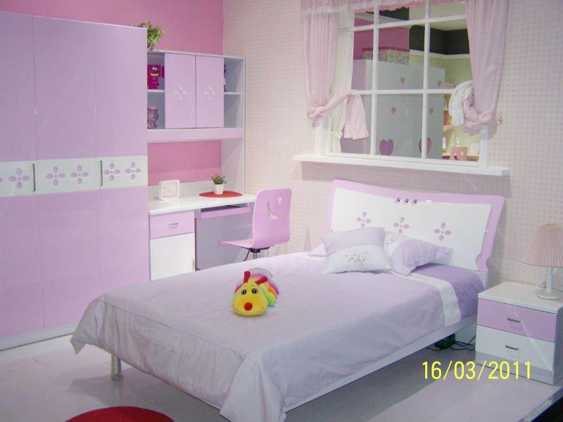 Rosa brillante estilo moderno ni os juegos de dormitorio for Juego de dormitorio para ninos