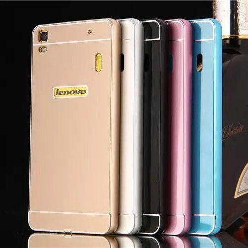 new product 109cb 773a9 2015 Hot Lenovo Lemon K3 Note Case Acrylic Back Cover & Aluminum Metal  Frame Set Phone Bag Cases for Lenovo K3 Note