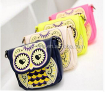 2015 New Arrival 4 Colors Casual Vintage Cartoon Owl Women's Single Shoulder Handbag Portable Small Sling Bag Mini Messenger Bag
