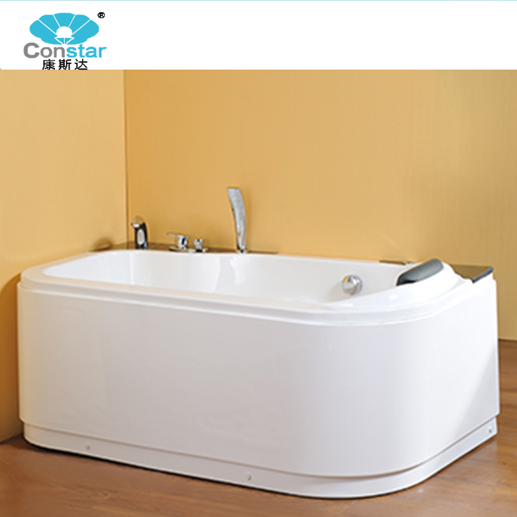 Constar Freestanding Clear Glass Acrylic Air Jet Whirlpool Massage Spa Bathtub