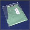 LDPE clear shopping plastic bag slider packaging bag for garment