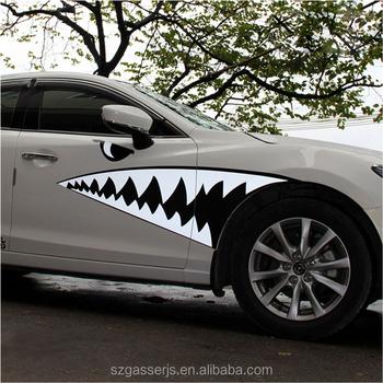 Top kualitas vinyl decal mobil dashboard stiker untuk iklan