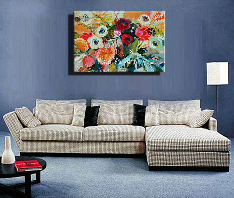 Famous artist acrylic paint living room abstract modern ...
