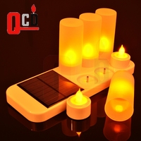 Solar Powered Candles Rechargeable LED Candle Set Rechargeable LED Tealight