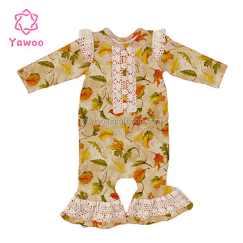 8aed76ff432a 2017 New Design Baby Knitted Rompers Fallen Leaves Infant Clothing ...
