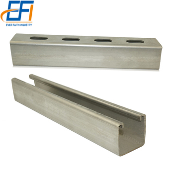 Cold Rolled Perforated Galvanized Strut Stainless Steel Unistrut C Channel Sizes Metric
