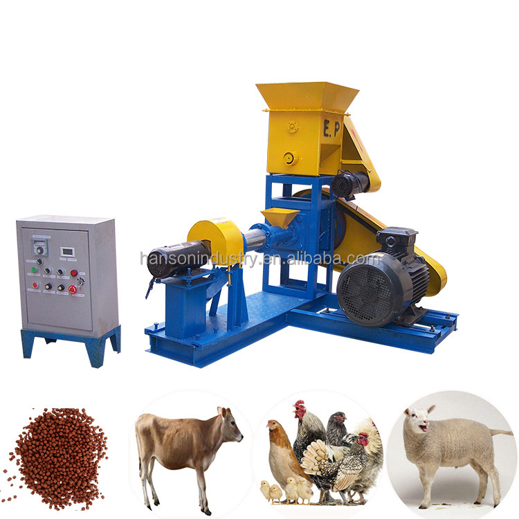 Chicken/Cow/Poultry/Pig Animal Feed Making Pellet Machine Or Production Line Pakistan