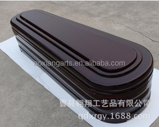 high quality and cheap solid wood coffin