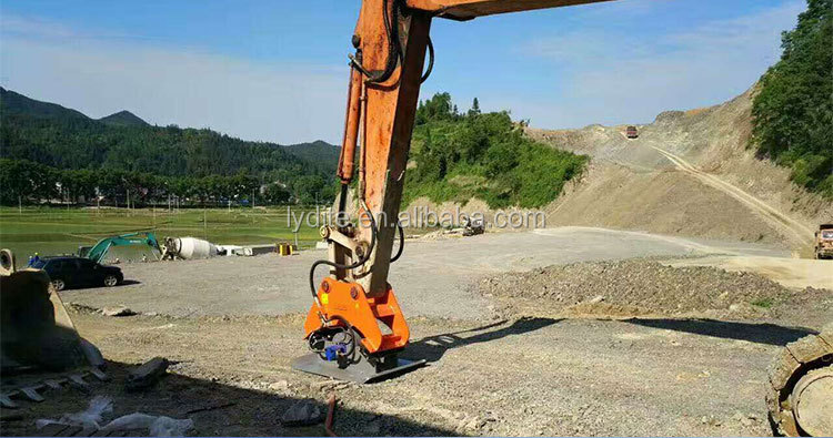 Chinese Supplier LYD made mini excavator compactor equipment vibro compactor and hydraulic compactor for excavator