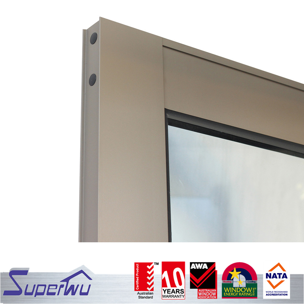Thermal break aluminum hinged doors aluminum double tempered glass doors french door