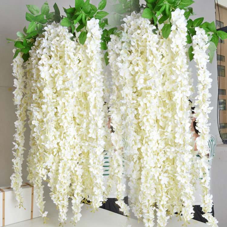 Long 160cm 62inch High artificial <strong>flowers</strong> wisteria <strong>flowers</strong> wedding party home decoration silk <strong>flowers</strong>