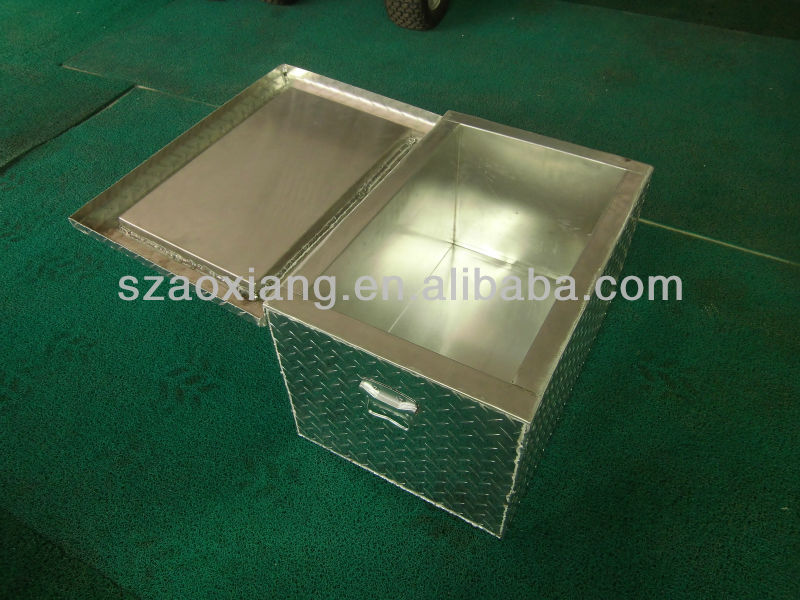 Oem Aluminum Diamond Plate Ice Cooler Box From Top Oem