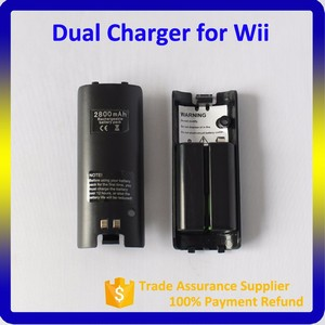 Portable Docking Station For Nintendo,2800mAh For Wii Controller Battery