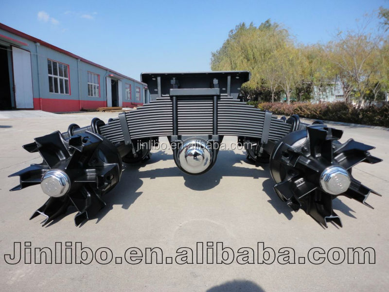Boogie suspension with Spider Spoke Drum Axle for trailer/semi trailer