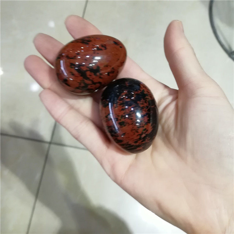Natural red obsidian egg Crystal Yoni Eggs massage healing