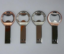 promotional gift cheap colorful usb 2.0 metal bottle opener key chain usb flash drives with logo