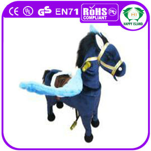 HI CE walking running mechanical flying horse toys