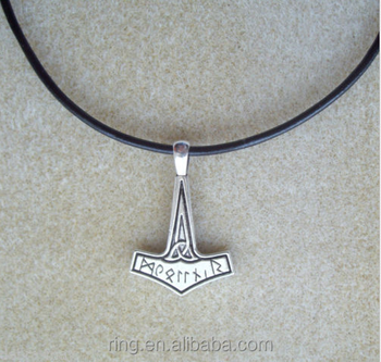 Viking Norse Thor's Hammer amulet Pendant Leather Cord Necklace, View thor  hammer necklace , DS Product Details from Yichun City Dongsheng Jewelry
