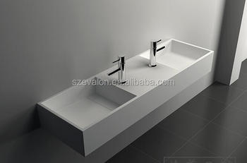 Composite Stone Wash Basin Custom Made Double Bathroom Sink