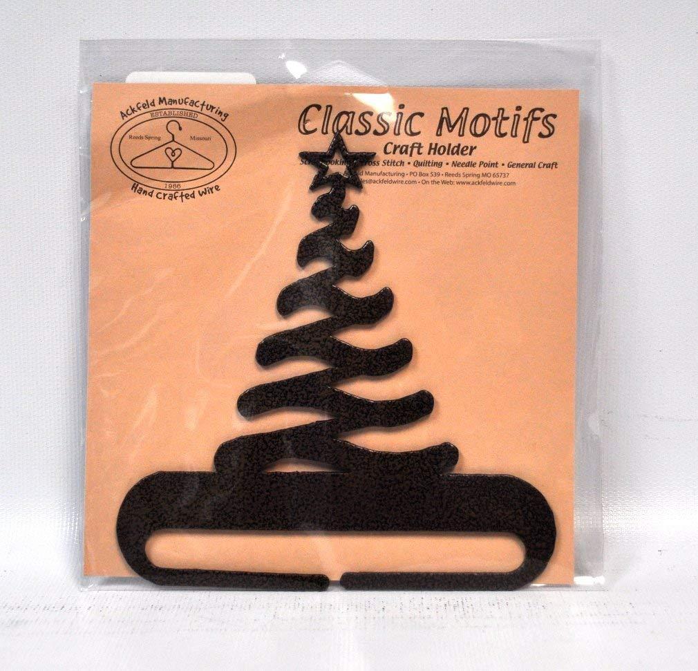 Classic Motifs 4 Inch Modern Christmas Tree Split Bottom Craft Holder