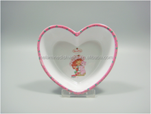 Heart Shaped High Quality Melamine Salad Bowl for Children