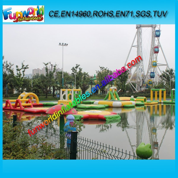 Floating Inflatables Aqua Water Sport Game, Inflatable Water Park For Sale (FUNWG1-191)